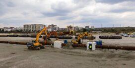 A inceput a doua faza a proiectului de stopare a eroziunii costiere. Plaja de la Eforie Sud se va lărgi de abia de anul viitor